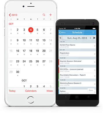 Sync your diaries with your phone