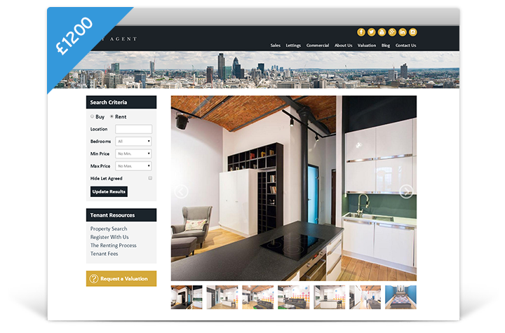 Estate Agent Websites - Cityscape Theme