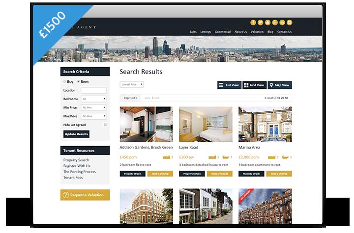 Estate Agent Websites - Cityscape Theme