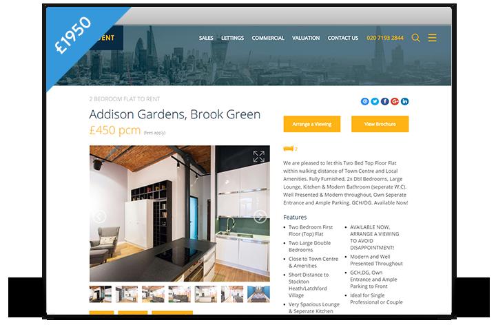 Estate Agent Websites - Horizon Theme