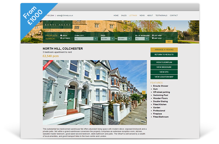 Estate Agent Websites - Panorama Theme