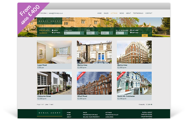 Estate Agent Websites - Panorama Theme