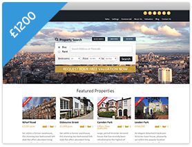 Cityscape Theme Estate Agent Website