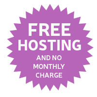 Free hosting and no monthly charge